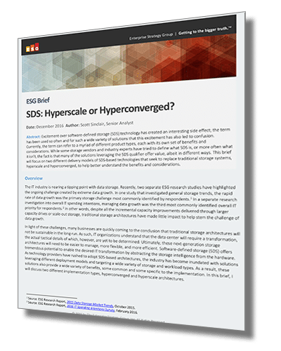 SDS: Hyberscale or Hyperconverged