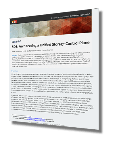 SDS: Architecting a Unified Storage Control Plane
