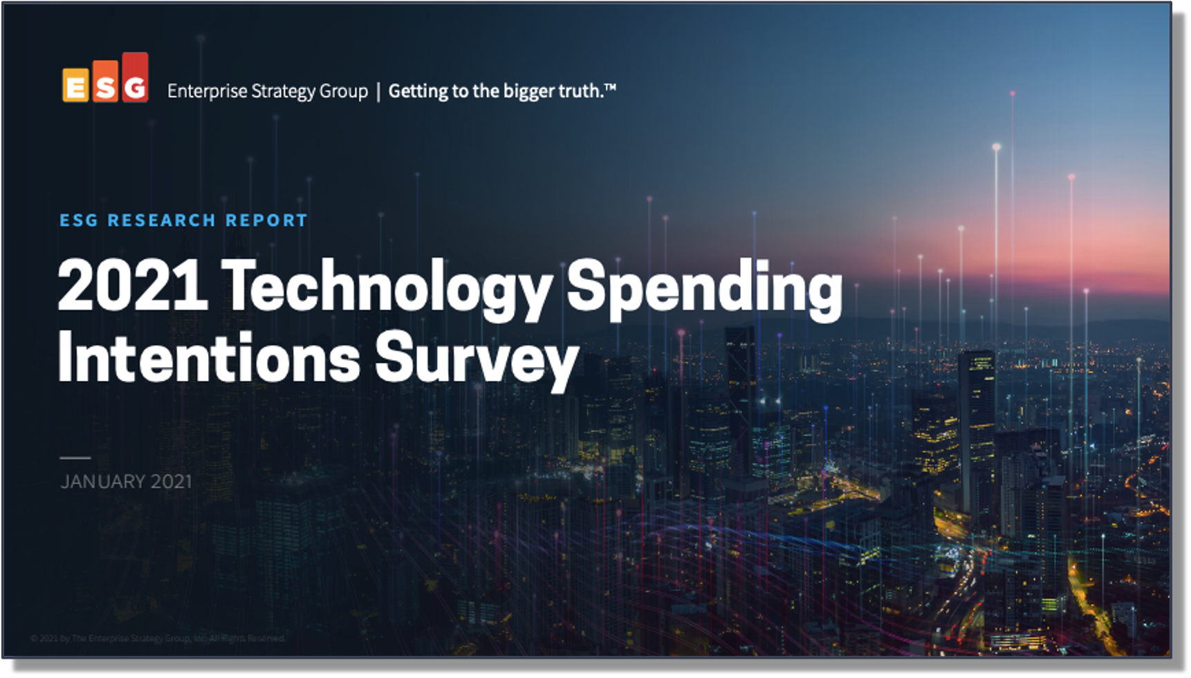 ESG Research Report: 2021 Technology Spending Intentions Survey
