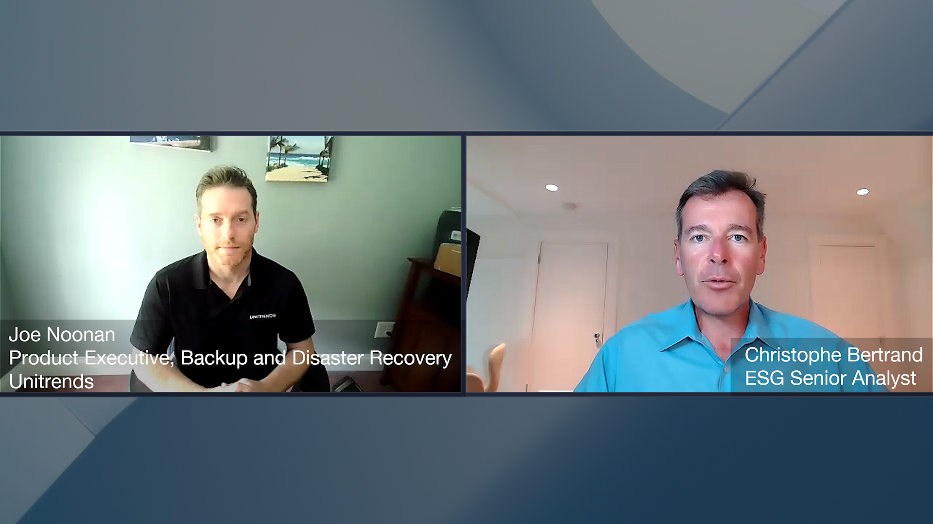 Data Protection Conversation with Joe Noonan of Unitrends (Video)