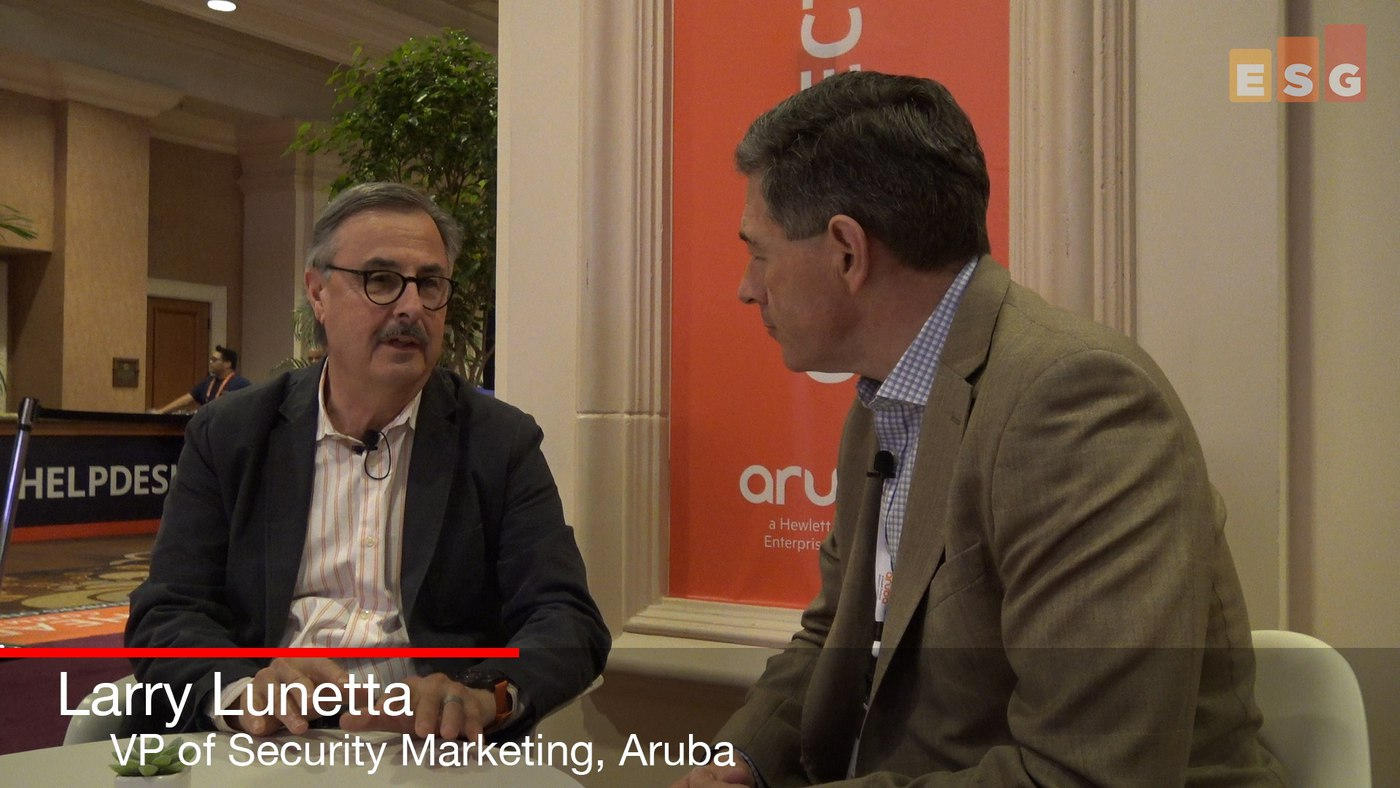 In Conversation with Aruba's Larry Lunetta at Atmosphere 2018 (Video)