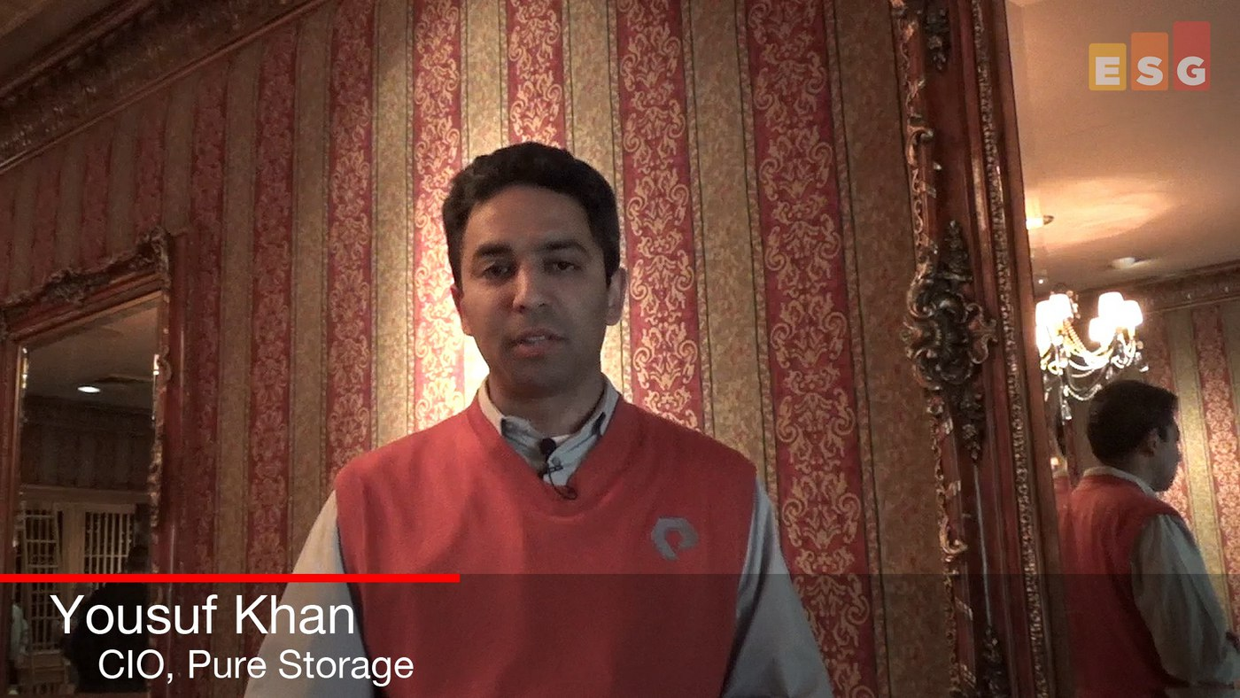 A Quick Talk with Yousuf Kahn, CIO of Pure Storage: High Performance Flash Is Powering Digital Business Transformation (Video)