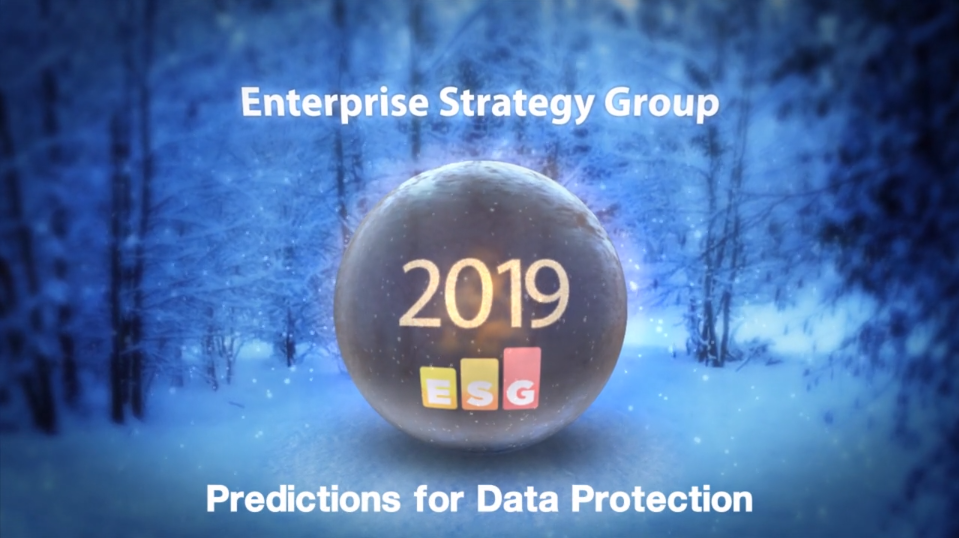ESG 2019 Predictions: Data Protection