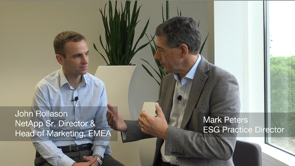 ESG Video: Interview With NetApp's John Rollason - Part 1