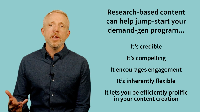 ESG Video: 5 Reasons Why Research-based Content Should Be Part of Your Demand-gen Playbook