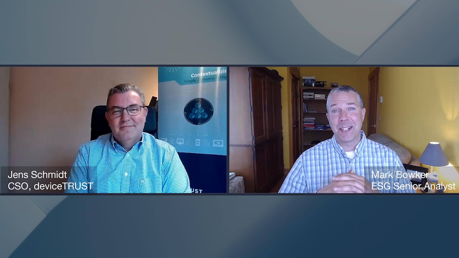 ESG360 Video: Digital Workspace Ecosystem Conversation with Jens Schmidt of deviceTRUST