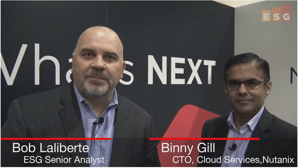 ESG On Location Video: Beam Discussion with Binny Gill of Nutanix