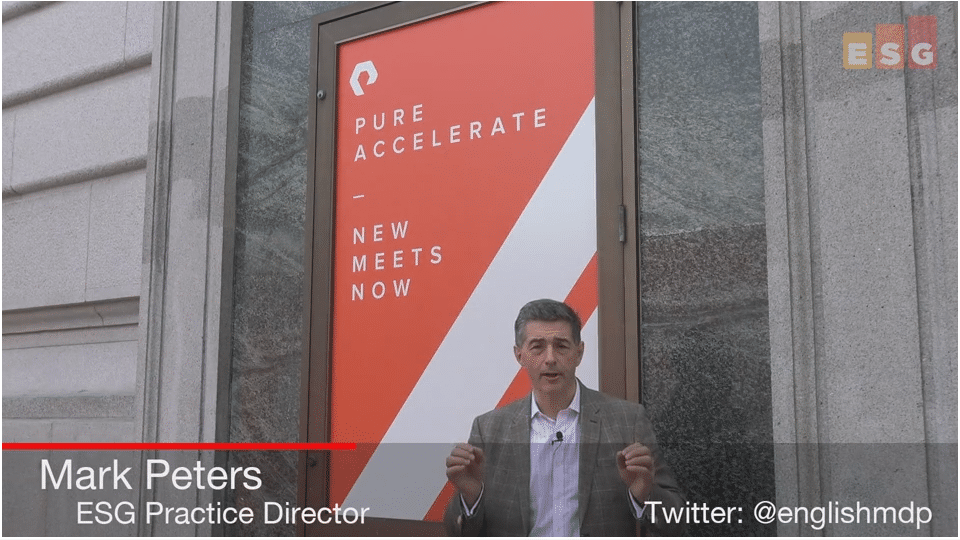 ESG On Location Video: Insights From Pure Accelerate 2018