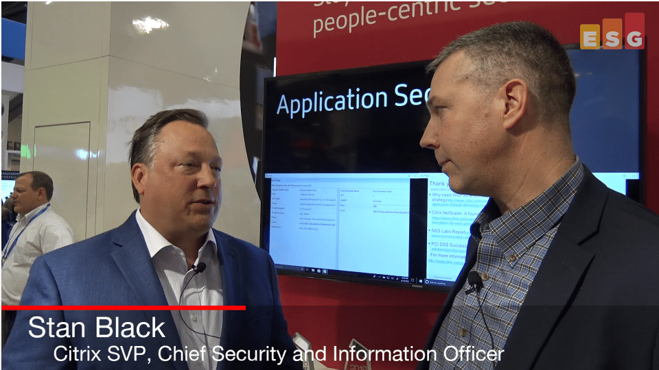 ESG On Location Video: RSA 2018 Interview With Stan Black of Citrix