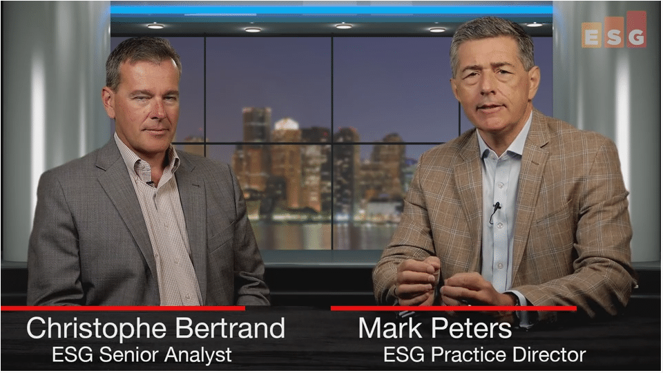 ESG360 Video: Talking Data Protection With Christophe Bertrand and Mark Peters