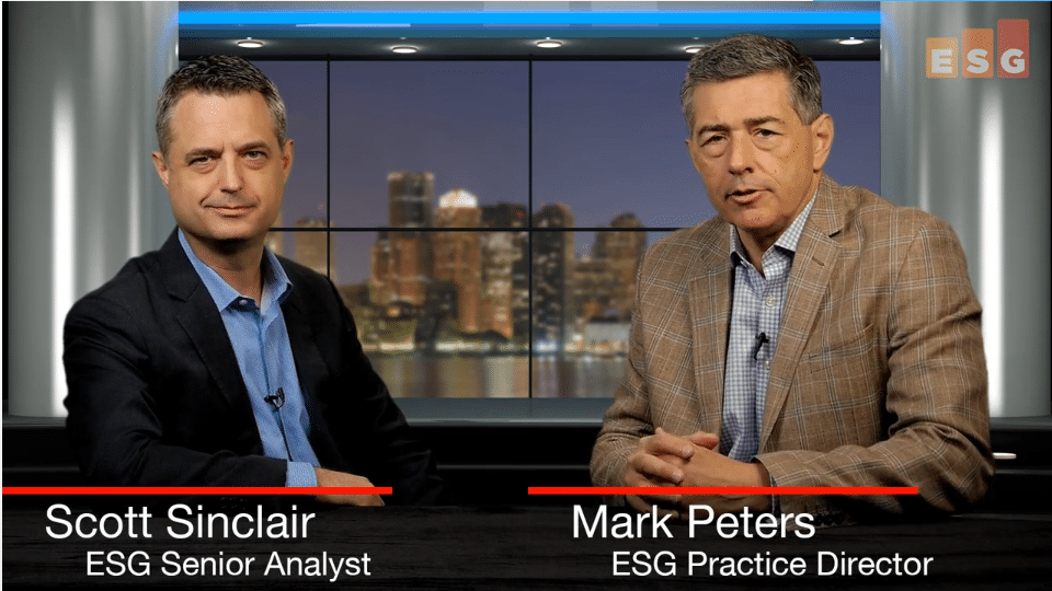 ESG360 Video:Talking Storage With Scott Sinclair and Mark Peters