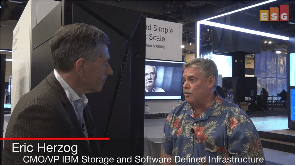 ESG On Location Video: Interview with IBM's Eric Herzog