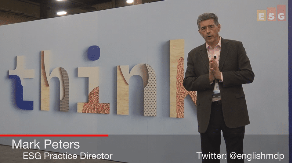 ESG On Location Video: Insights From IBM Think 2018