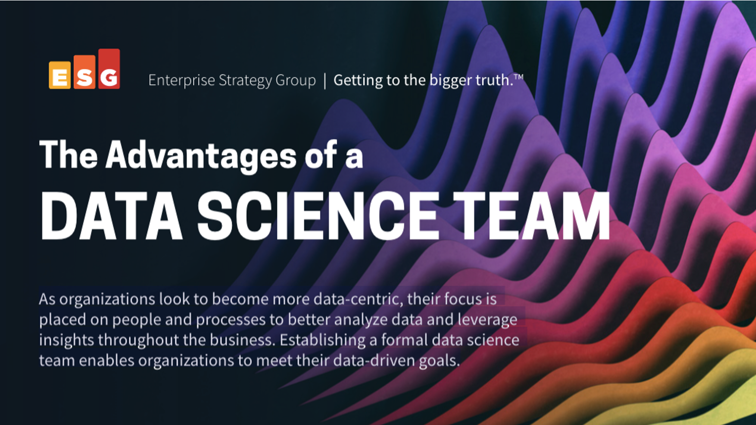 ESG Infographic: The Advantages of a Data Science Team