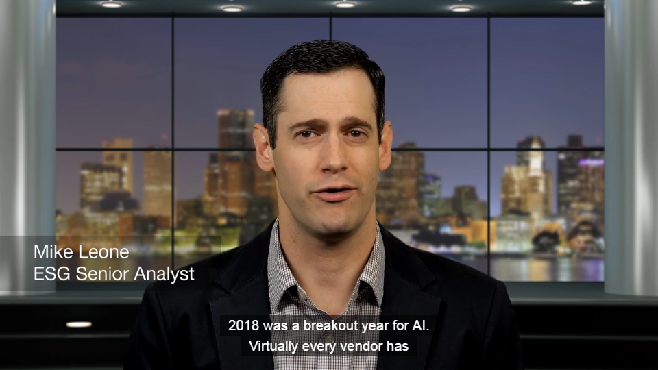 ESG 2019 Predictions - Artificial Intelligence