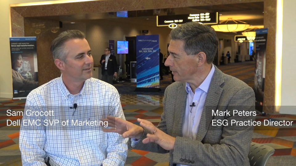 ESG On Location: A Conversation with Sam Grocott of Dell EMC