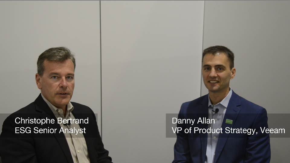 ESG On Location:A Data Protection Conversation With Veeam's Danny Allan