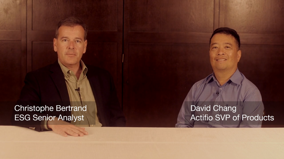 ESG On Location: Data Protection Conversation with Actifio's David Chang