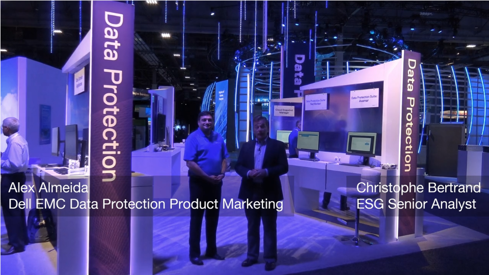 ESG On Location: Data Protection Conversation with Alex Almeida of Dell EMC