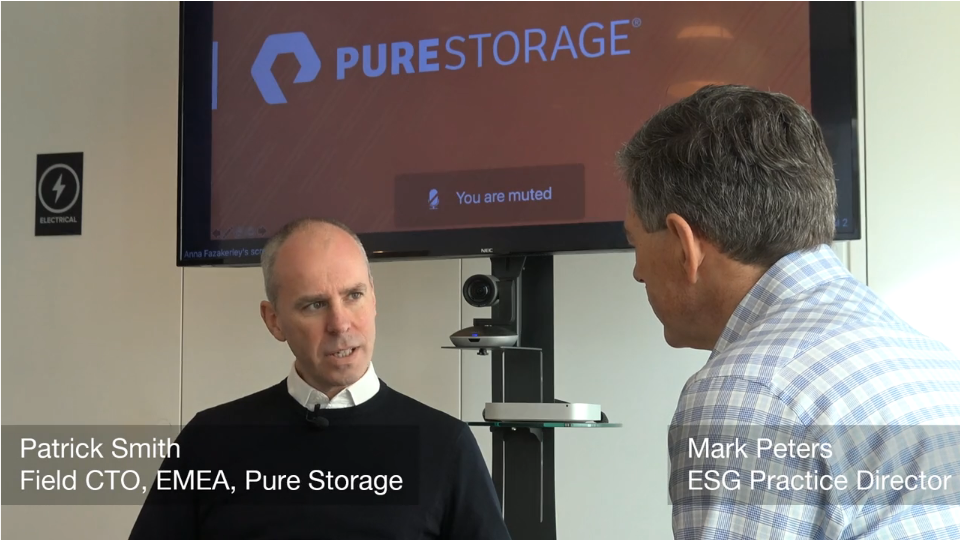 ESG On Location: In Conversation with Patrick Smith of Pure Storage