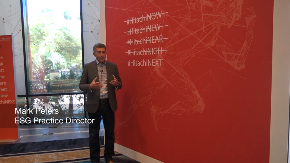 ESG On Location: Insights from Hitachi Vantara NEXT 2019