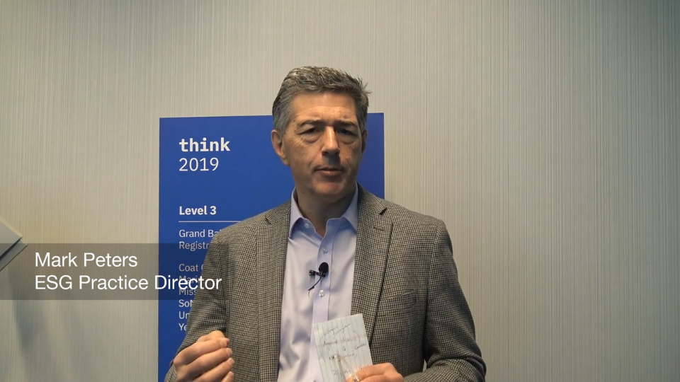 ESG On Location: Insights From IBM Think 2019