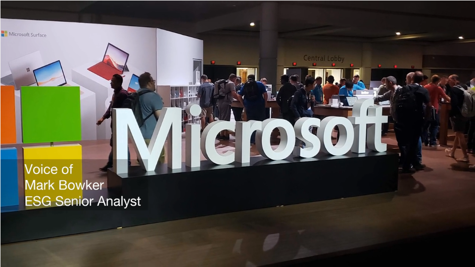 ESG On Location: Insights from Microsoft Ignite 2019