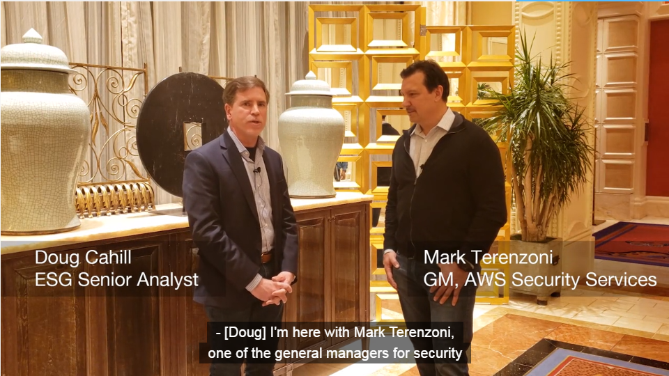 ESG On Location: Talking with Amazon's Mark Terenzoni at AWS re:Invent 2018