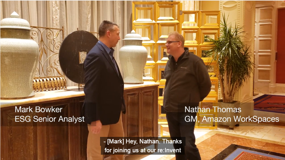 ESG On Location: Talking with Amazon's Nathan Thomas at AWS re:Invent 2018