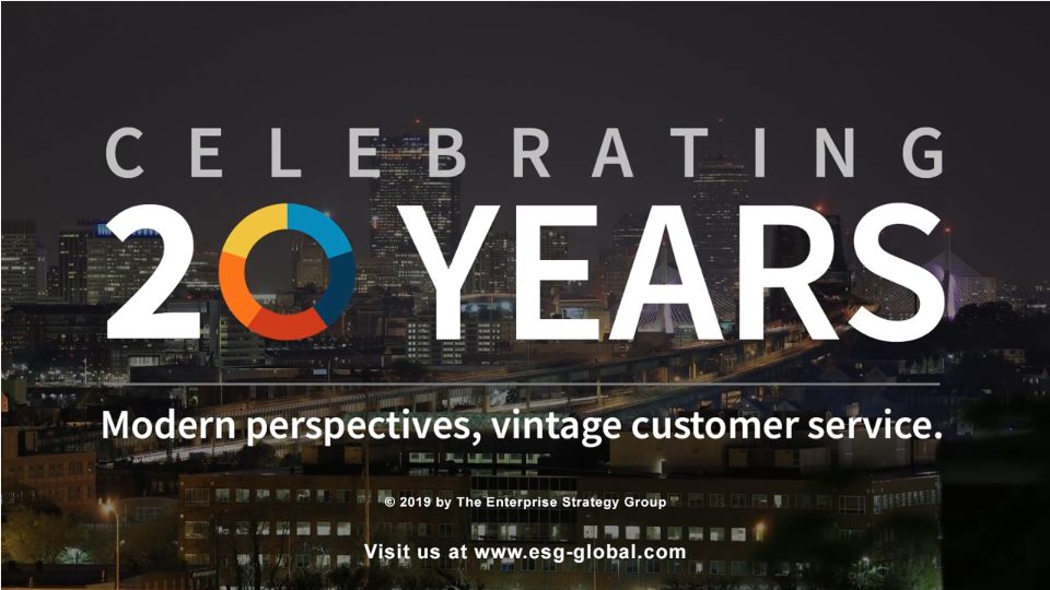 ESG Video Blog: 20 Years of Accelerating Your Success