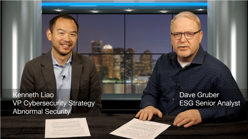 ESG360 Video: A conversation with Kenneth Liao of Abnormal Security - Part 2