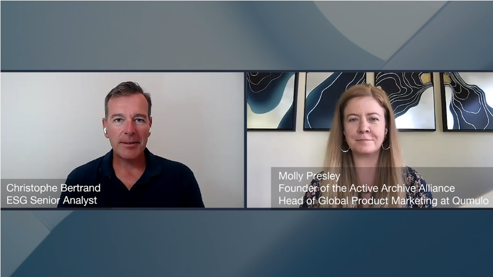 ESG360 Video: A Data Protection Conversation with The Active Archive Alliance Founder Molly Presley