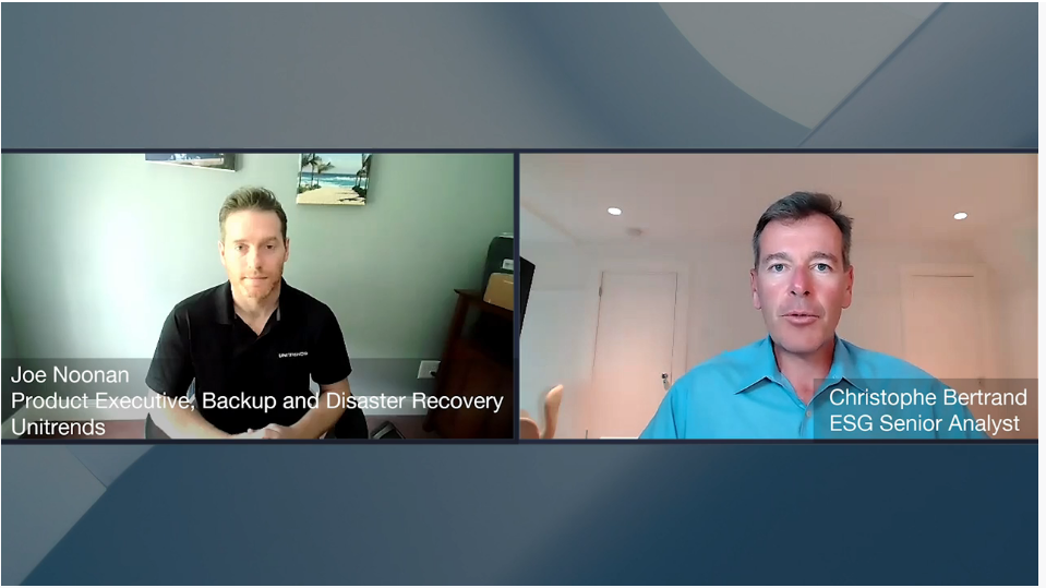 ESG360 Video: Data Protection Conversation with Joe Noonan of Unitrends
