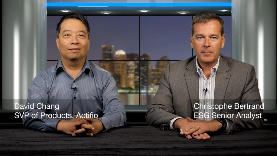 ESG360 Video: Data Protection Executive Conversation with David Chang of Actifio