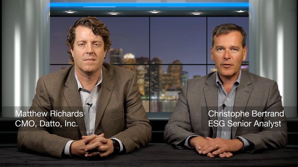 ESG360 Video: Data Protection Executive Conversation with Matthew Richards of Datto, Inc.