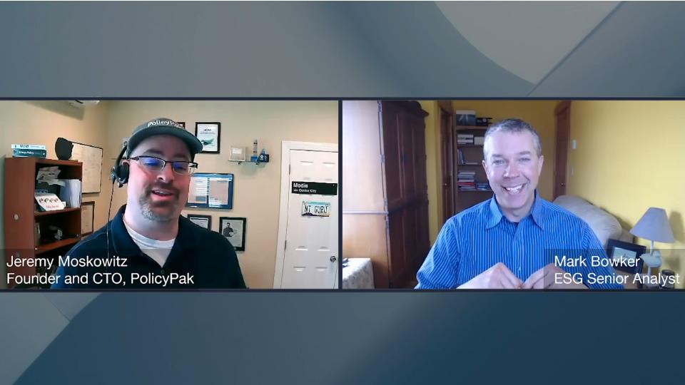 ESG360 Video: Digital Workspace Ecosystem Conversation with Jeremy Moskowitz of PolicyPak
