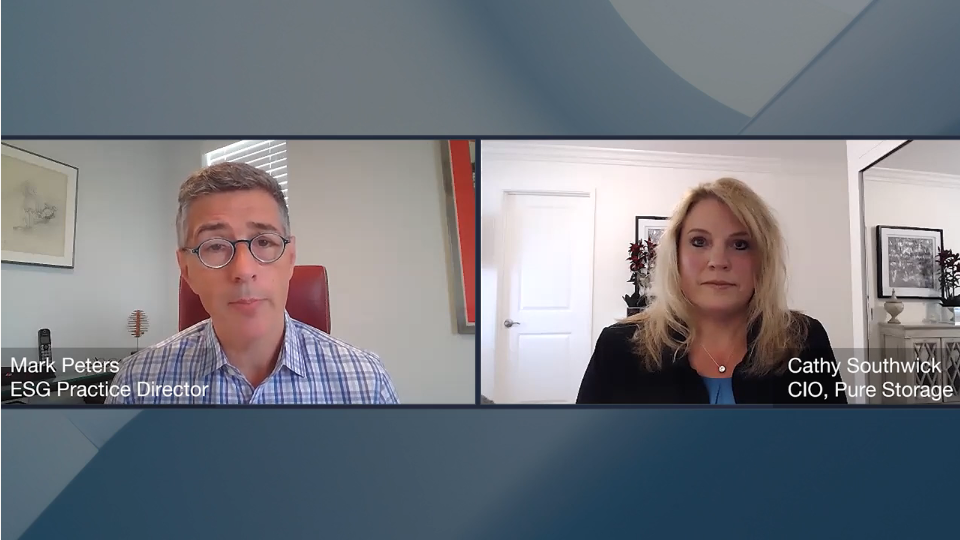 ESG360 Video: Marketing in Challenging Times - A Conversation with Cathy Southwick of Pure Storage