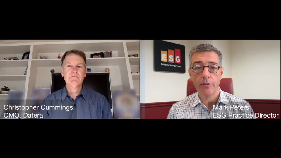 ESG360 Video: Marketing in Challenging Times - A Conversation with ChristopherCummings of Datera
