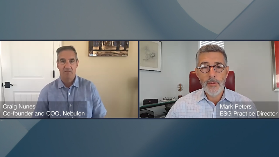 ESG360 Video: Marketing in Challenging Times - A Conversation with Craig Nunes of Nebulon