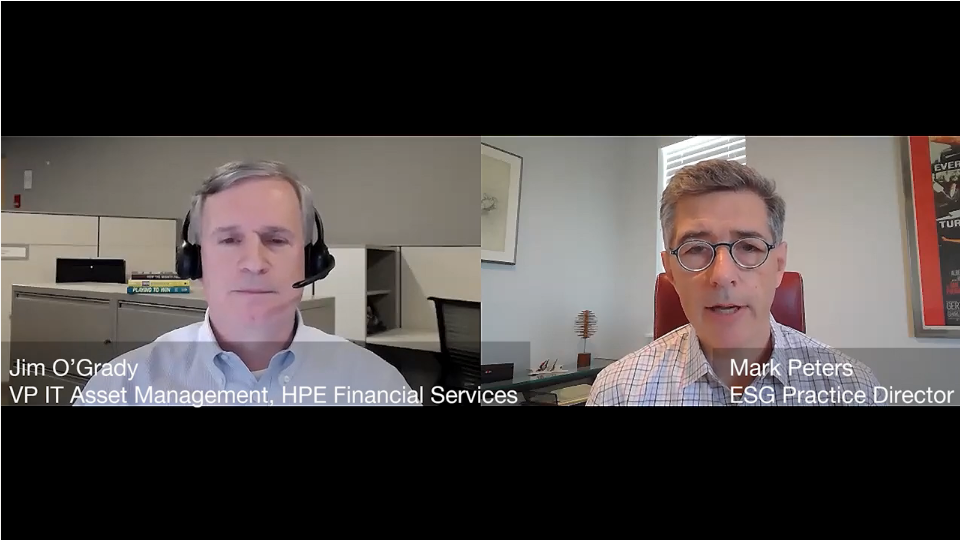 ESG360 Video: Marketing in Challenging Times - A Conversation with Jim O'Grady of HPE Financial Services