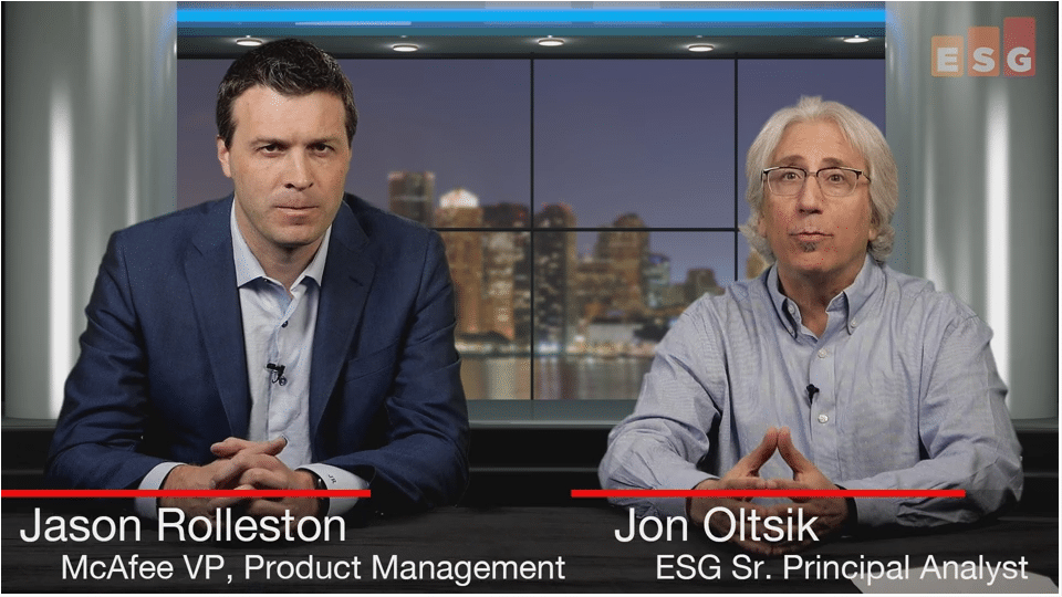 ESG360 Video: SOAPA Interview With Jason Rolleston of McAfee - Part 1