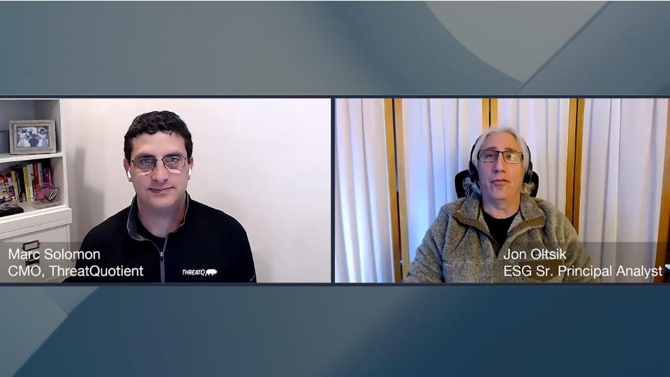 ESG360 Video: SOAPA Interview With Marc Solomon of ThreatQuotient, Part 2