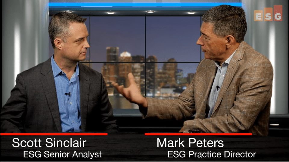 ESG360 Video: Talking NVMe and Optimized Hybrid Storage Management with Scott Sinclair and Mark Peters