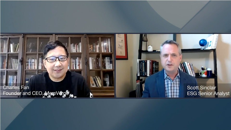 ESG360 Video: The Big Memory Movement - A Conversation with Charles Fan of MemVerge
