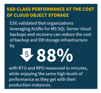 ESG Technical Review: Microsoft SQL Server Recovery and Performance with Actifio on Google Cloud